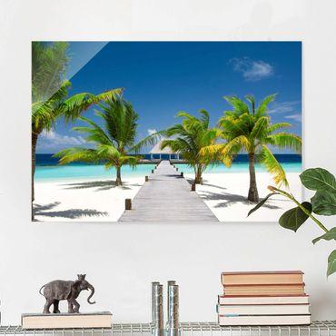 Glasbild - Catwalk to Paradise - Quer 3:2