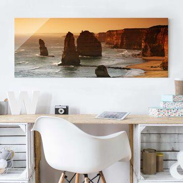 Glasbild - Die zwölf Apostel von Australien - Panorama Quer