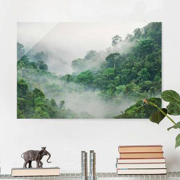 Glasbild - Dschungel im Nebel - Querformat 2:3