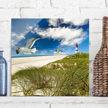 Glasbild - Dune Breeze - Quadrat 1:1
