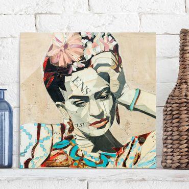Glasbild - Frida Kahlo - Collage No.1 - Quadrat 1:1