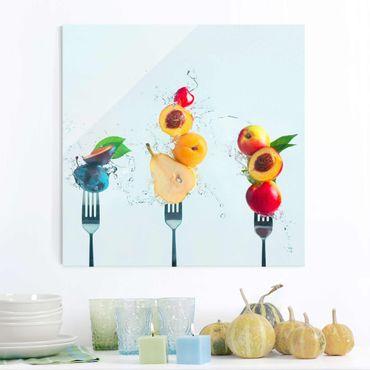 Glasbild - Fruchtsalat - Quadrat 1:1