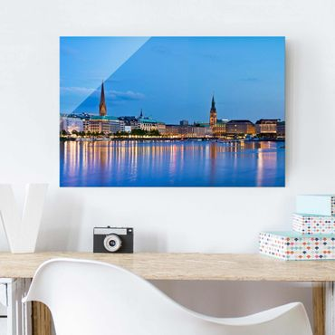 Glasbild - Hamburg Skyline - Quer 3:2