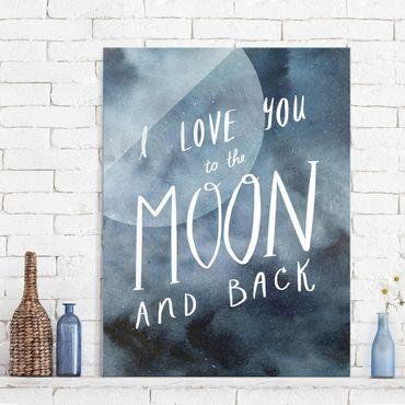 Glasbild - Himmlische Liebe - Mond - Hochformat 4:3