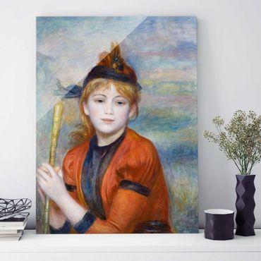 Glasbild - Kunstdruck Auguste Renoir - Die Spaziergängerin - Impressionismus Hoch 3:4
