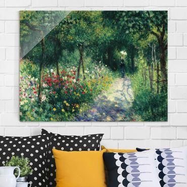 Glasbild - Kunstdruck Auguste Renoir - Frauen im Garten - Impressionismus Quer 4:3