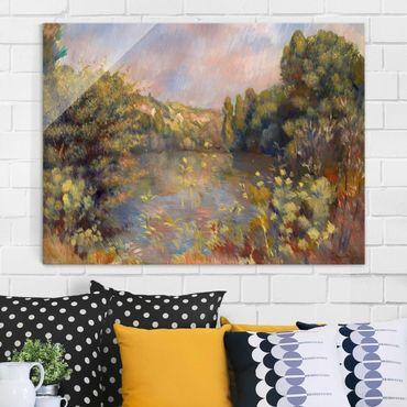 Glasbild - Kunstdruck Auguste Renoir - Landschaft mit einem See - Impressionismus Quer 4:3