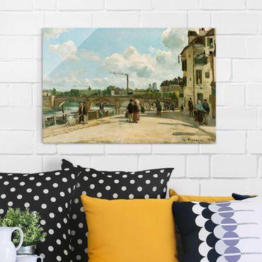 Glasbild - Kunstdruck Camille Pissarro - Ansicht von Pontoise - Impressionismus Quer 3:2