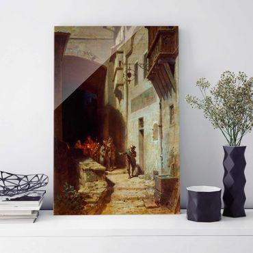 Glasbild - Kunstdruck Carl Spitzweg - Die Scharwache - Hoch 2:3