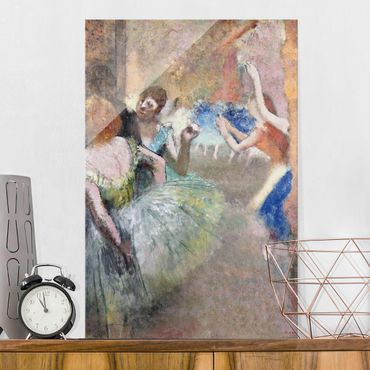 Glasbild - Kunstdruck Edgar Degas - Ballettszene - Impressionismus Hoch 2:3