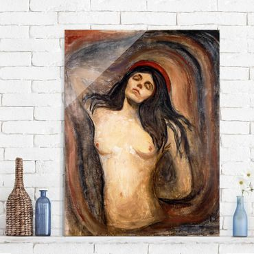 Glasbild - Kunstdruck Edvard Munch - Madonna - Expressionismus Hoch 3:4