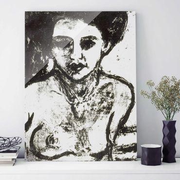 Glasbild - Kunstdruck Ernst Ludwig Kirchner - Artistenkind - Hoch 3:4