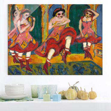 Glasbild - Kunstdruck Ernst Ludwig Kirchner - Czardastänzerinnen - Quer 4:3
