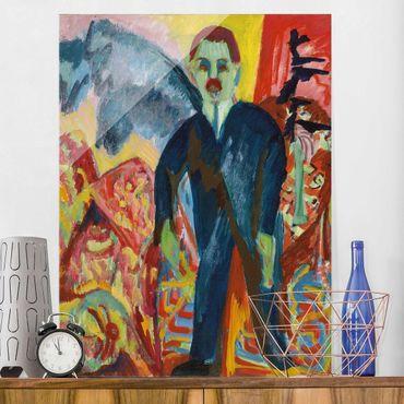 Glasbild - Kunstdruck Ernst Ludwig Kirchner - Der Krankenwärter - Hoch 3:4