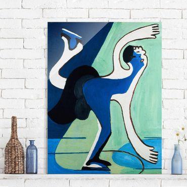 Glasbild - Kunstdruck Ernst Ludwig Kirchner - Eisläuferin - Hoch 3:4