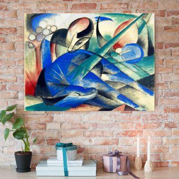 Glasbild - Kunstdruck Franz Marc - Träumendes Pferd - Expressionismus Quer 4:3