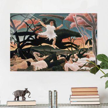 Glasbild - Kunstdruck Henri Rousseau - Der Krieg oder der Reiterzug des Unfrieden - Quer 3:2