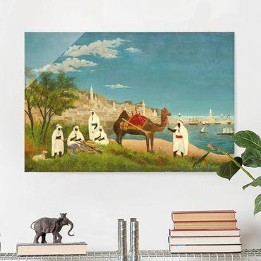 Glasbild - Kunstdruck Henri Rousseau - Landschaft um Algier - Quer 3:2