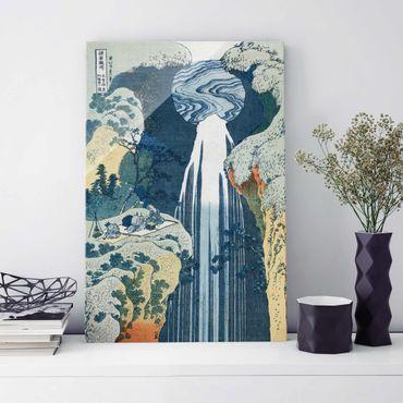 Glasbild - Kunstdruck Katsushika Hokusai - Der Wasserfall von Amida an der Kiso Straße - Hoch 2:3