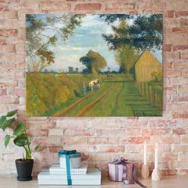 Glasbild - Kunstdruck Otto Modersohn - Weg (Timpen) in der Abendsonne - Quer 4:3