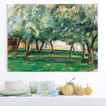 Glasbild - Kunstdruck Paul Cézanne - Gehöft in der Normandie - Impressionismus Quer 4:3