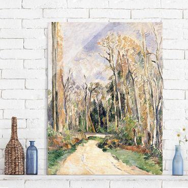 Glasbild - Kunstdruck Paul Cézanne - Weg am Waldeingang - Impressionismus Hoch 3:4