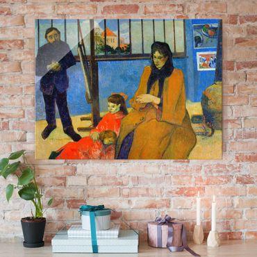 Glasbild - Kunstdruck Paul Gauguin - Die Familie Schuffenecker - Post-Impressionismus Quer 4:3