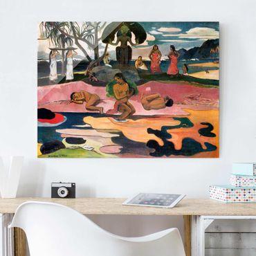 Glasbild - Kunstdruck Paul Gauguin - Gottestag (Mahana No Atua) - Post-Impressionismus Quer 4:3