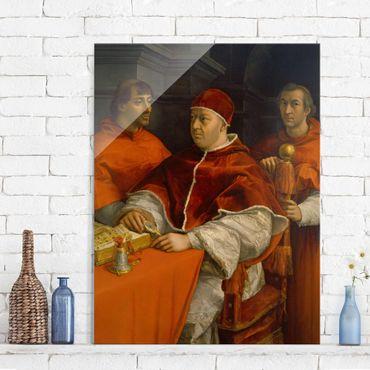 Glasbild - Kunstdruck Raffael - Bildnis von Papst Leo X. - Hoch 3:4