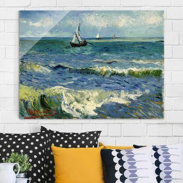 Glasbild - Kunstdruck Vincent van Gogh - Seelandschaft in der Nähe von Les Saintes-Maries-de-la-Mer - Post-Impressionismus Quer 4:3