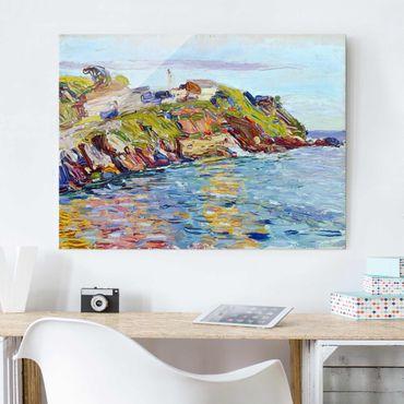 Glasbild - Kunstdruck Wassily Kandinsky - Bucht von Rapallo - Expressionismus Quer 4:3