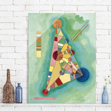 Glasbild - Kunstdruck Wassily Kandinsky - Bunt im Dreieck - Expressionismus Hoch 3:4