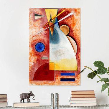 Glasbild - Kunstdruck Wassily Kandinsky - Ineinander - Expressionismus Hoch 2:3