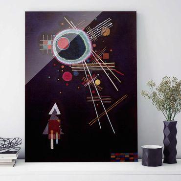 Glasbild - Kunstdruck Wassily Kandinsky - Strahlenlinien - Expressionismus Hoch 3:4