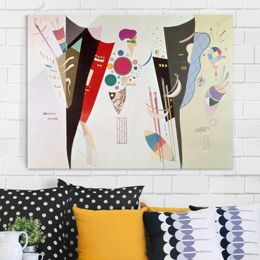 Glasbild - Kunstdruck Wassily Kandinsky - Wechselseitiger Gleichklang - Expressionismus Quer 4:3