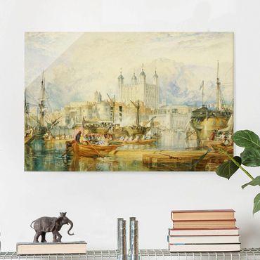 Glasbild - Kunstdruck William Turner - Der Tower von London - Romantik Quer 3:2