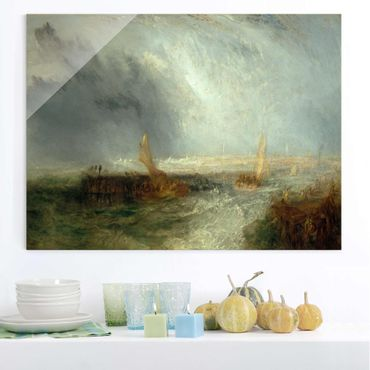 Glasbild - Kunstdruck William Turner - Ostende - Romantik Quer 4:3