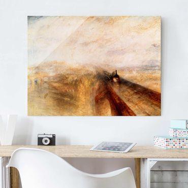 Glasbild - Kunstdruck William Turner - Regen, Dampf und Geschwindigkeit - Romantik Quer 4:3