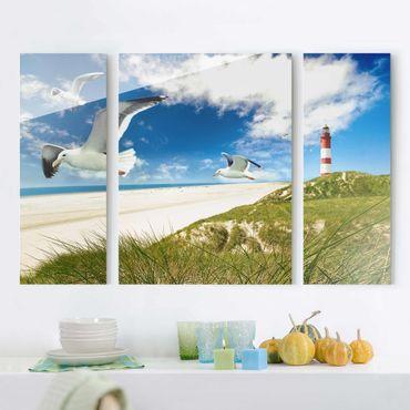 Glasbild mehrteilig - Dune Breeze 3-teilig