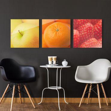 Glasbild mehrteilig - Frisches Obst 3-teilig