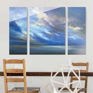 Glasbild mehrteilig - Küstenhimmel dunkel - 3-teilig