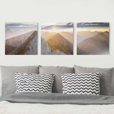 Glasbild mehrteilig - Lechtaler Alpen - 3-teilig