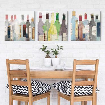 Glasbild mehrteilig - Wein & Spirituosen Set I - 3-teilig