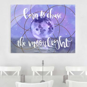 Glasbild - Mond-Kind - Moonlight - Querformat 3:4