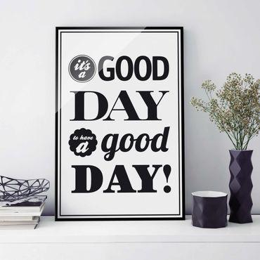 Glasbild - No.EV25 A Good Day II - Hoch 2:3