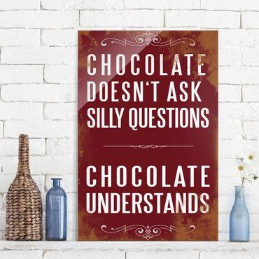 Glasbild - No.KA22 Chocolate - Hoch 2:3