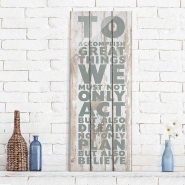 Glasbild - No.RS179 Great Things - Panorama Hoch