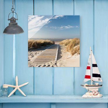Glasbild - Ostsee Strand - Quadrat 1:1
