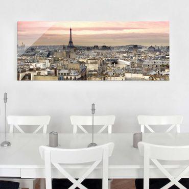 Glasbild - Paris hautnah - Panorama Quer