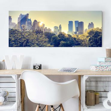 Glasbild - Peaceful Central Park - Panorama Quer